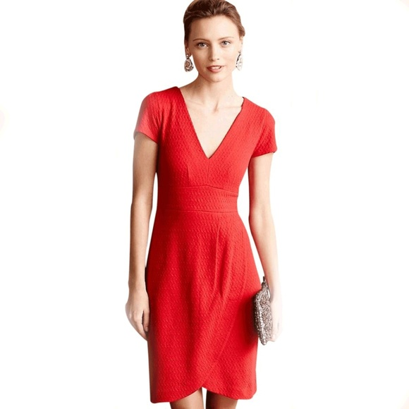 Anthropologie Dresses & Skirts - Maeve Splitshade Red Tulip Hem Dress